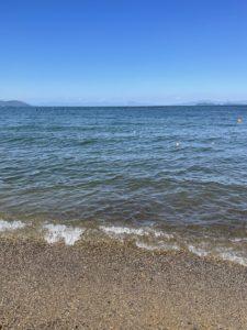 琵琶湖のビーチ