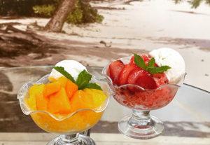 イチゴとマンゴーのパフェ