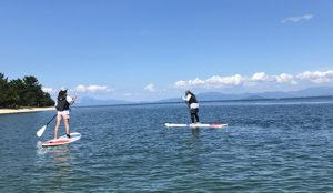琵琶湖でSUP