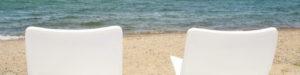 琵琶湖を眺める椅子