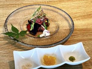 鹿肉と夏野菜のソテー