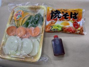 野菜・焼きそば・タレ
