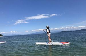 琵琶湖でSUPを楽しむ
