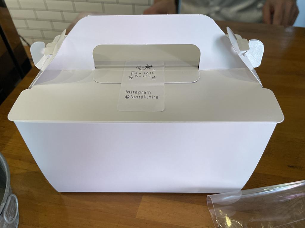 ファンテイルさんのケーキBOX