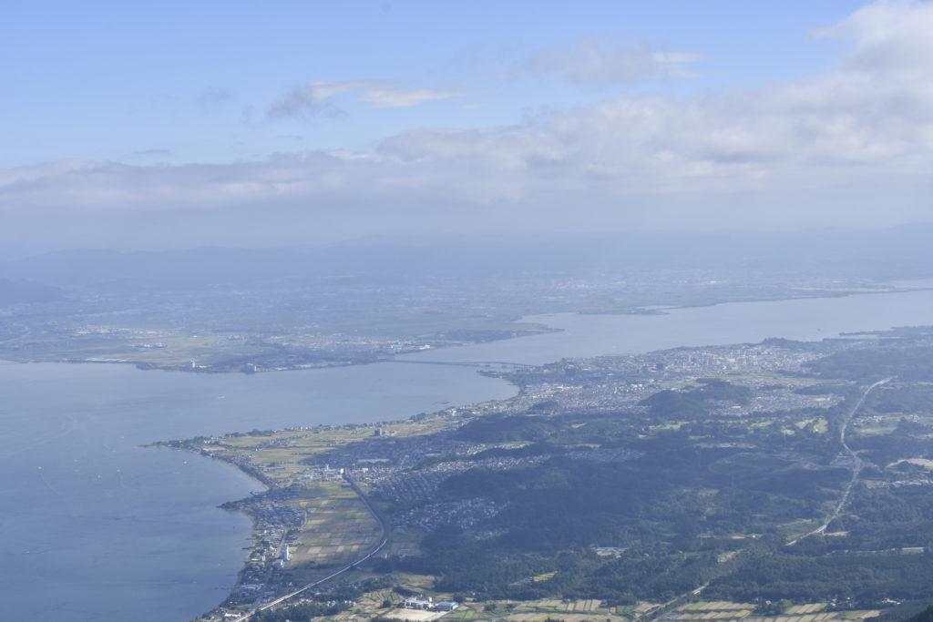 蓬莱山頂からの琵琶湖