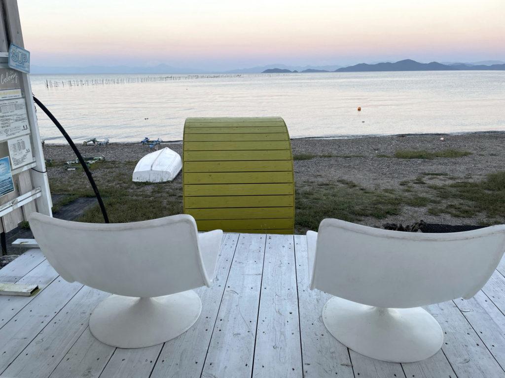 琵琶湖を眺める特等席