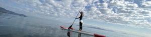 琵琶湖でウニ湖のようなヨガ
