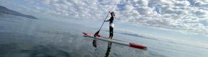 まるでウニ湖な琵琶湖でヨガ