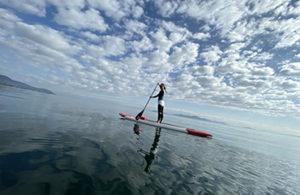 ウユニ塩湖のような琵琶湖