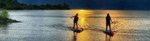 琵琶湖で朝日ヨガ
