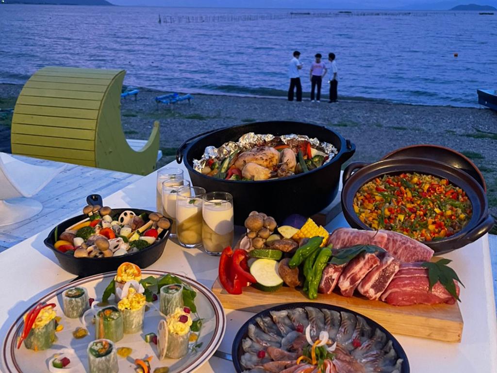 ビーチハウスワニでの夕食