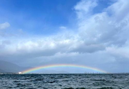 琵琶湖の架かる虹のアーチ